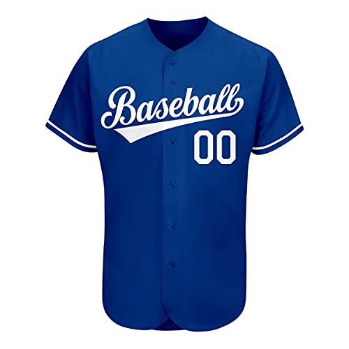 Custom Baseball Jersey Personalized Full Button Shirts Stitched Name&Numbers for Men/Women/Boys