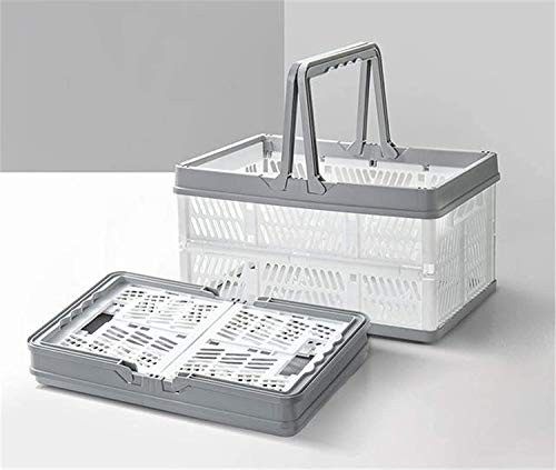 Plastic Shopping Baskets With Handles, Collapsible Plastic...