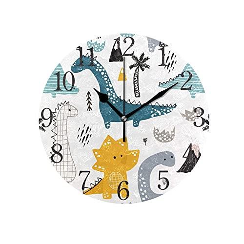 XBYUNDING Reloj de Pared,Tema de Verano de limón,Reloj de Escritorio sin Costo silencioso para dormitorios,se Puede Dar un Reloj Creativo Circular Simple a los Amigos.