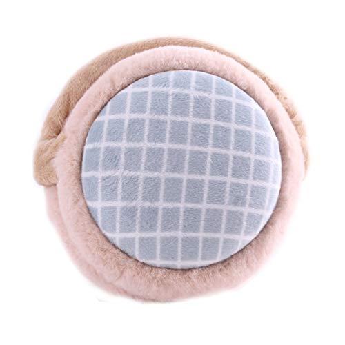 XYW Ohrenschützer - Einfacher Plaid Plüsch Mädchen Jungen Ohrenschützer Faltbar Tragbare Erwachsene Winterausflug Zubehör (Color : #2)