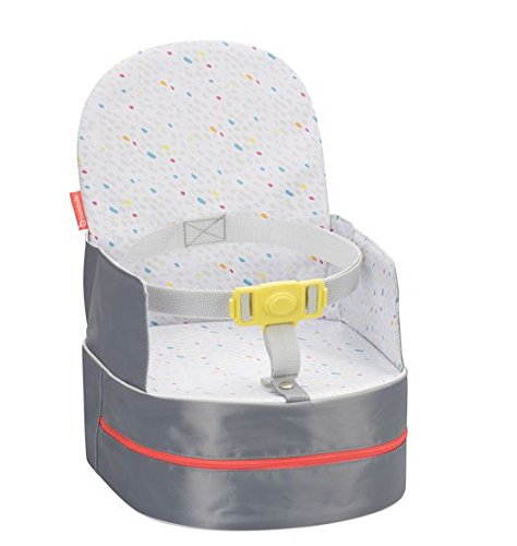 Badabulle Sitzerhöhung, für unterwegs und für Stuhl, als Rucksack tragbar, grau, 10 cm