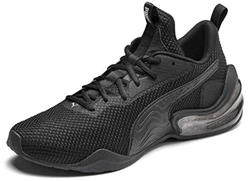PUMA Men's LQDCELL Challenge Sneaker, Black Black, 11.5 M US