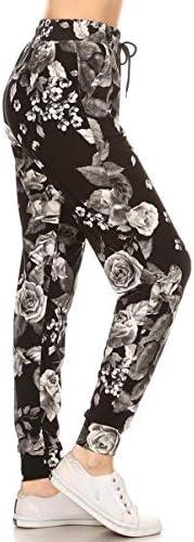 Rose print leggings _image3