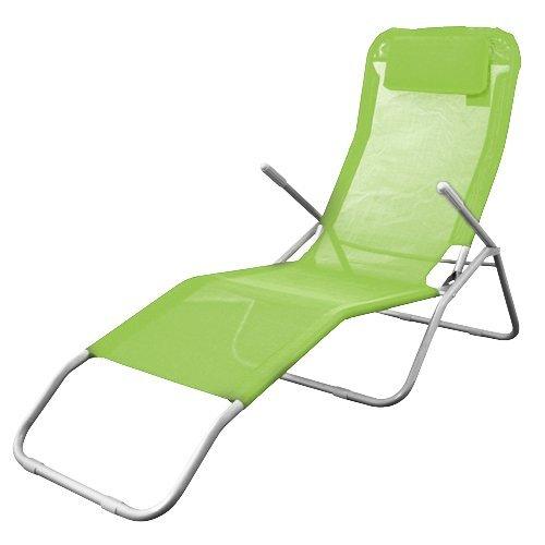 Spetebo Gesundheitsliege in Limette (grün) - Bequeme Relaxliege mit klappbarem Fußteil