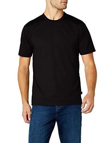 Trigema Herren T-Shirt aus Baumwolle 637202, Schwarz, L