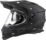 O'Neal Sierra II Helm Flat Schwarz Motorrad MX Motocross Enduro Offroad Quad,...