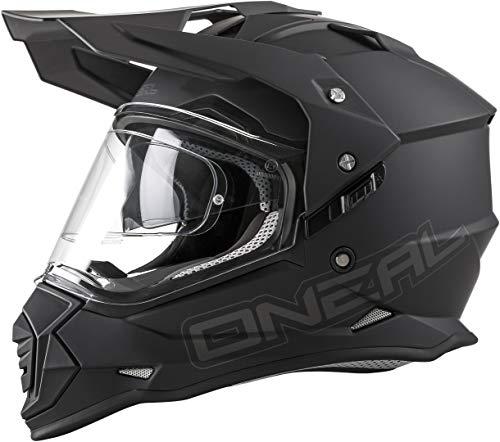O'NEAL Sierra II Adventure Enduro MX Motorrad Helm Flat schwarz 2020 Oneal: Größe: XL (61-62cm)