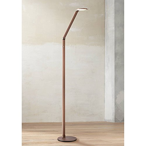 Magnum Modern Contemporary Minimalist Style Task Floor Lamp LED Bright Lighting Adjustable French Bronze Dimmer Switch for Living Room Reading House Bedroom Home Office Decor - Possini Euro Design