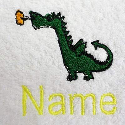 Gant de toilette, Serviette de toilette, Serviette de bain ou Drap de bain personnalisé avec dragon bébé Logo et nom de votre choix, White, Black, Aqua, Cream, Chocolate, Navy Blue, Sky Blue, Hand Towel 50x90cm