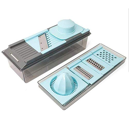 Keukenrasp CS-PS 7 in 1 Fruit Groenten shredders Bijl van het Voedsel Dicer Ui Aardappel Wortel Kitchen Tools (Color : As photo, Size : -)