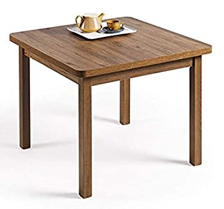 HOGAR24- Mesa Multiusos Comedor Cocina Dimensiones 90 cm x 90 cm Extensible Libro a 180 cm x 90 cm Color Madera Envejecida Nogal