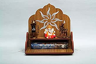 Engineered Wood Home Temple.Wooden Wall Hanging Temple for Home and Shop ,Office and home showpiece temple (Light Brown)