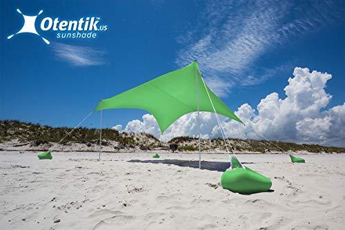 Otentik Beach Sunshade - with Sandbag Anchors - The Original Sunshade Since 2011