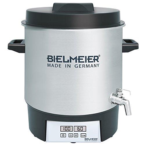 BIELMEIER Einkochautomat 1800 W 27 Liter Auslaufhahn Edelstahl 3/8