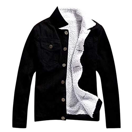 SUMTTER 2019 Giacca Jeans Donna e Uomo Jacket Denim Invernale Imbottita Caldo Cappotto Oversize Capispalla con Pelliccia Outwear Parka
