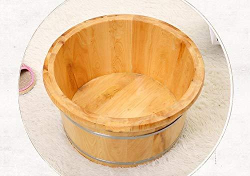 KHFFH badkuip met voet, cederhout, badkuip voor spa, hout, vijverhout (platte bodem, hoogte 0,25 m)