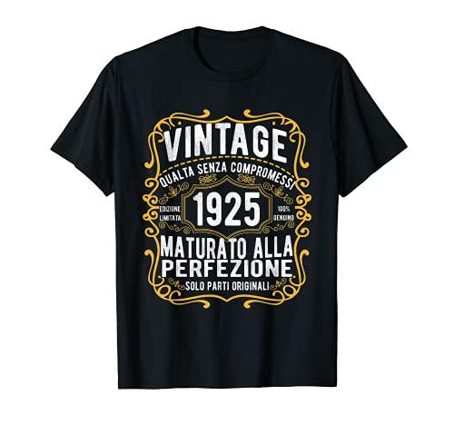 Vintage 1925 regalo divertente 96 anni compleanno Maglietta Maglietta
