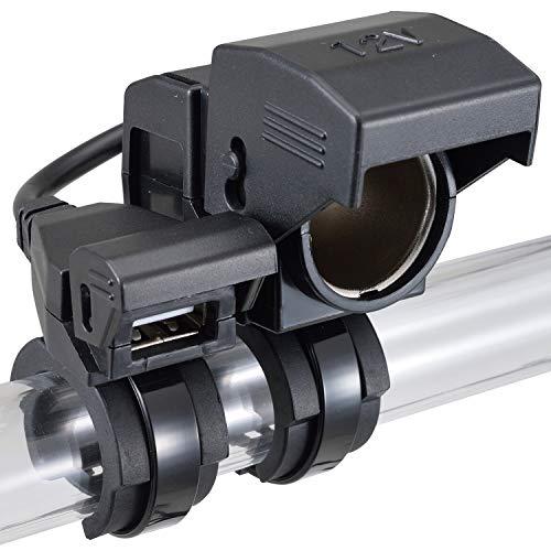 デイトナ バイク用 USB電源(5V/2.1A) シガーソケット(12V5A) バッテリー接続 常時通電 USB-A×1 シガーソケット×1 93042