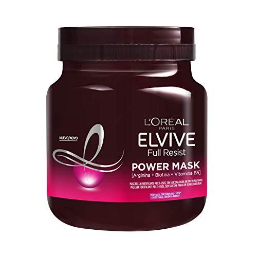 L'Oréal Paris Elvive Full Resist Mascarilla Fortificante Multi-Usos Power Mask, Para Pelos Frágiles, 680 ml