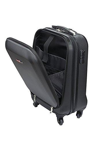 Swiss Case Pro Business Traveller 20' ABS 4-Wheel Cabin Suitcase w/Laptop Pocket