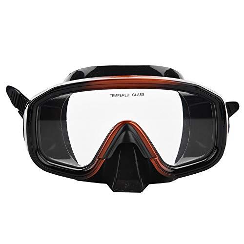 GOTOTOP Gafas de Buceo, Buceo Ajustable con esnórquel Completamente seco con Estuche de Transporte para buceadores y Nadadores Adultos
