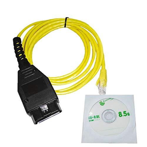 Zengbuks Ethernet zu OBD Schnittstellenkabel Hochleistungs E-SYS ICOM Codierung F-Serie Für BMW ENET 2M Fehlercodes Diagnosescanner