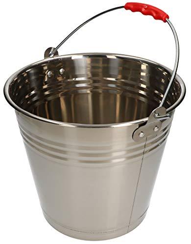 KOTARBAU Secchio in acciaio inox, 10 l, per alimenti, per la cucina, per il latte, per la gastronomia