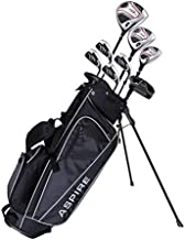Aspire XD1 Teenager Complete Golf Set Includes Driver, Fairway, Hybrid, 7, 8, 9, Wedge Irons, Putter, Stand Bag, 3 HC'S Teen Ages 13-16 Right Hand - Height 5'1