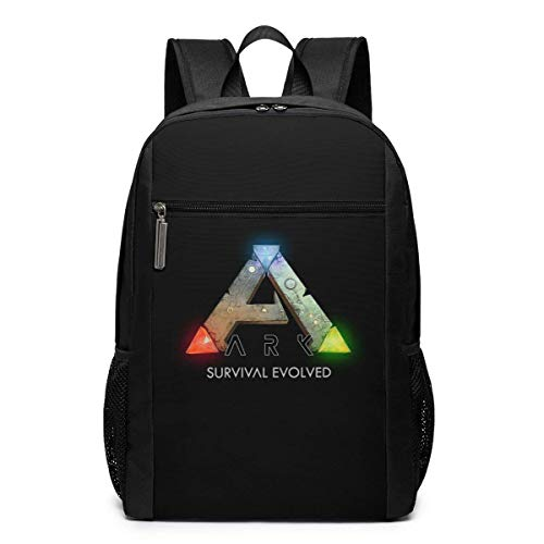 Mochila de Viaje de Mochila Escolar, Ark Survival Evolved Logo Backpacks Travel School Large Bags Shoulder Laptop Bag For Men Women Kids