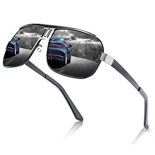 DKee Gafas de Sol Dentro De La Bicicleta De Conducción De Ciclismo Deportivo Azul Al Aire Libre Pesca for Hombres/Mujeres Gafas De Sol Polarizadas Playa Que Viaja Protección UV400 Unisex
