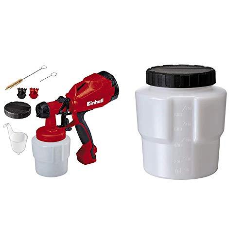 Einhell Elektrisches Farbsprühsystem TC-SY 400 P (400 W, für kleine und mittelgroße Arbeitsflächen, für Lacke uund Lasuren, Farbmengenregulierung) & Original Einhell Farbbehälter 800 ml