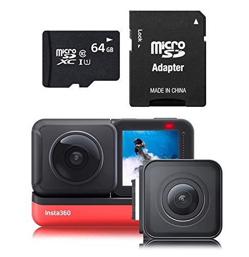 Insta360 One R Twin 64GB Edition con 360 Grados y 4K Gran Angular Mods más Tarjeta de Memoria de 64 GB