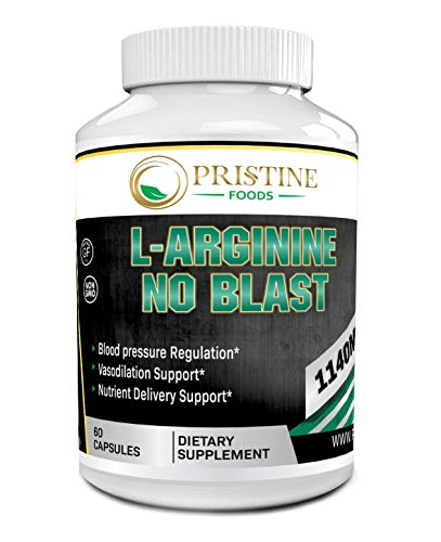 Pristine Foods L Arginine - Nitric Oxide Supplements for Stamina, Muscle, Vascularity & Energy - Powerful NO Booster with L-Arginine, L-Citrulline & Essential Amino Acids