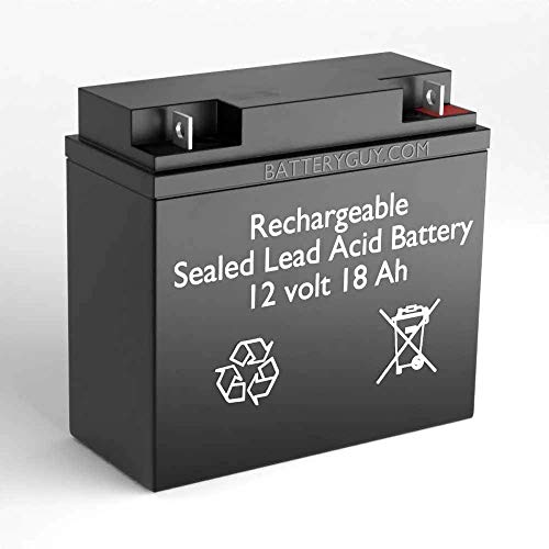 BatteryGuy 12V 18AH SLA Replacement Battery for Stanley J5C09 500 Amp Battery Jump Starter with Compressor - Rechargeable