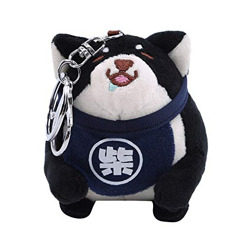 NMJHG 12CM Plush Hedgehog Toys Key Chain Ring Pendant Plush Toy Animal Stuffed Anime Car Fur Gifts for Women Girl Toys Doll Black-2