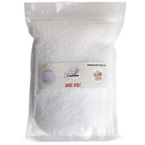 Greendoso-Azúcar Perlado, Grano Medio 900 gr, Idéal por Hornear Gofres, Rollos, Roscón y como Decoración de Dulces