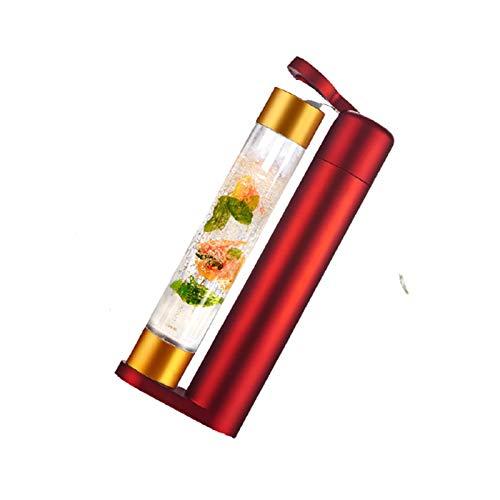 LORIEL Fabricante de Agua Brillante, máquina de Burbujas para el hogar, Bebidas y Jugo de carbonatado casero, 1000 ml/Rojo