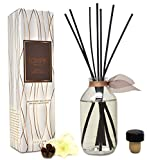 LOVSPA Smoked Vanilla Bean Reed Diffuser Set - Scented Stick Room Freshener Warm, Sultry Blend of Smoked Tahitian Vanilla, Sandalwood, Leather and Southern Bourbon - Made in The USA