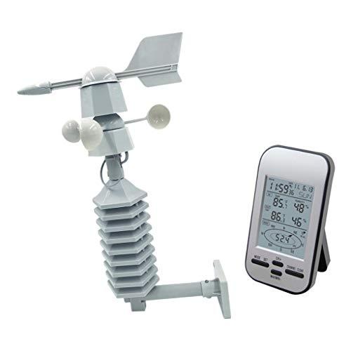 LOVIVER Estación Meteorológica Interior y Exterior con Sensor Inalámbrico al Aire Libre, Termometro Ambiental Monitor de Temperatura y Humedad