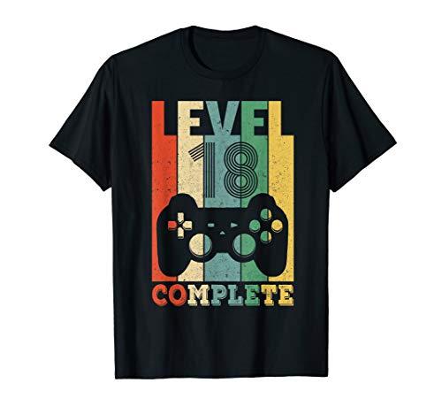 Herren 18. Geburtstag Mann Level 18 Jahre Junge 2002 Deko Geschenk T-Shirt