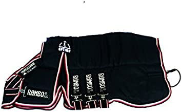 Horseware Rambo Optimo Stable Hood 200g - Navy/Beige/Large
