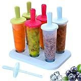 Molde de Helado, Pop Ice Lolly Mould Maker Frozen Dessert Popsicle Moldes para Paletas Fácil de Limpiar Sin BPA Paletas Hielo para DIY Helado Zumo Batido Yogur, 3 Colores Surtidos