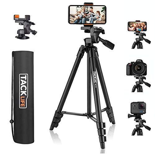 Lightweight Tripod 55-Inch, Aluminum Travel/Camera/Phone Tripod with Carry...