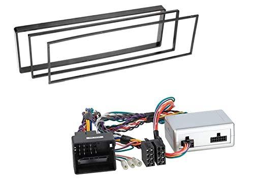 1 Din Radio inbouwset met stuurwielafstandsbediening voor Citroen C3 Pluriel (H) 2006-2010 zwart zonder JBL geluidssysteem