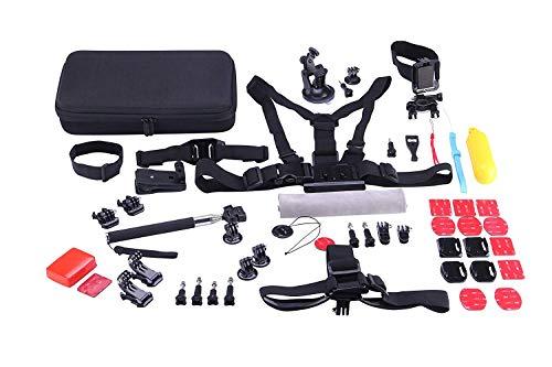 rk Kit de Accesorios 53 en 1 para cámaras Deportivas Sjcam SJ8, Series 7 6 5 4, Gopro Hero 6 5 4 3, Cámaras YI