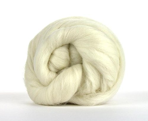 1 Lb. Paradise Fibers 64 Count Undyed Merino Top - Highest Quality Spinning Fiber Luxuriously Soft Wool Top Roving drafted for Hand Spinning with Drop Spindle or Wheel, Felting, Blending and Weaving.