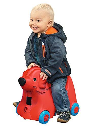 BIG 800055350 – Bobby-Trolley, Kinderkoffer, Kindergepäck, rot - 2