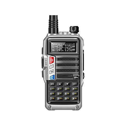 Z-Color CB transceptor de Radio 8W 10 kilometros de Largo Alcance Radio portátil, batería de Alta Capacidad de 8000mAh / FM/Función de Alarma/Built-in Linterna LED, Soporte VOX Función