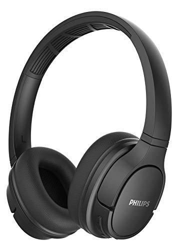 Philips Casque sport SH402BK/00 Wireless On Ear (Bluetooth, IPX4, 40 mm driver, 20 heures de lecture) Noir, TASH402BK/00, One Size