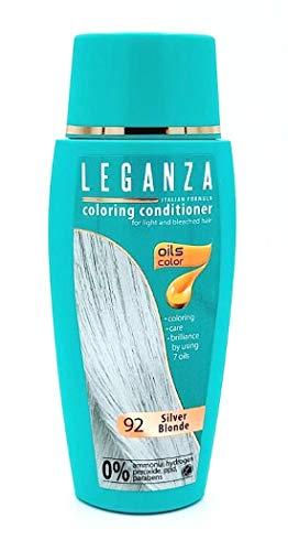 Leganza Färbender Conditioner Farbe 92 Blond Silber Mit 7 Natürlichen Ölen Ammoniak und Paraben frei